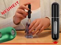NEUHEIT Parfümzerstäuber LEER Parfum Flasche Flakon für Taschenparfüm 5ml SCHWARZ